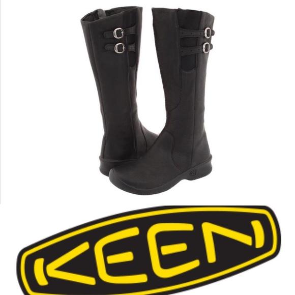 Keen Black Leather Bern Baby Bern Boots 7